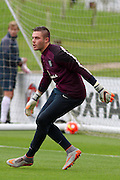 England goalkeeper Jack Butland in goal during the England Training Session at St George's Park National Football Centre, Burton-Upon-Trent, United Kingdom on 7 October 2015. Photo by Aaron Lupton.