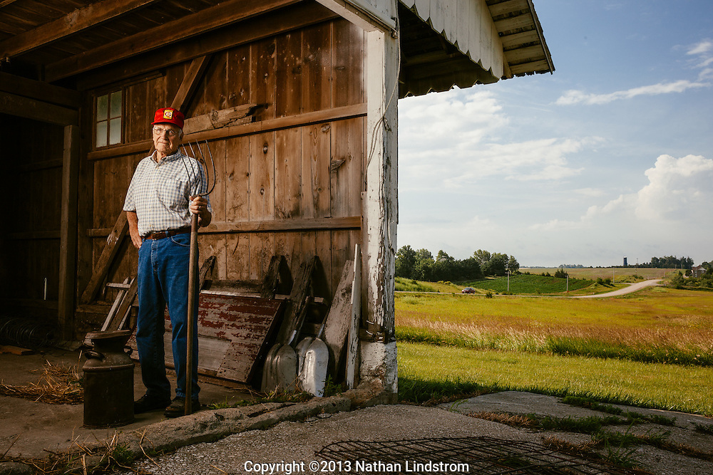 Farmer Orval Brenneman.<br />