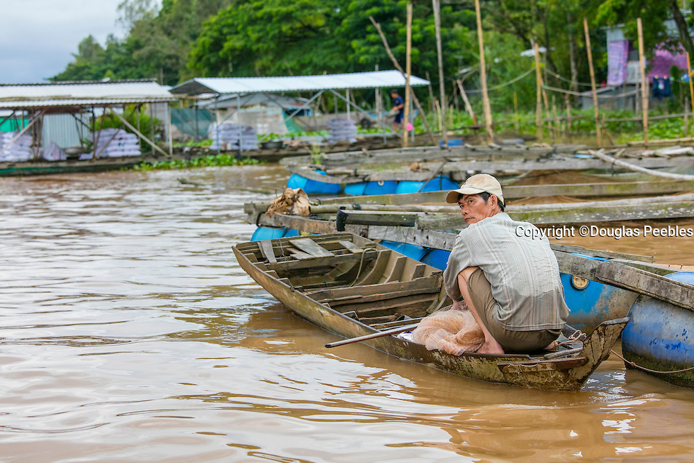 Fishing, Mekong River, Vietnam, Asia