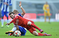 v.l. Vladimir Darida, Per Ciljan Skjelbred (Berlin)<br /> Fussball Bundesliga, Hertha BSC Berlin - SC Freiburg<br /> <br /> Norway only
