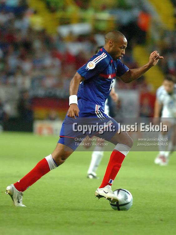 Thierry Henry, France-Greece 25.6.2004.&#xA;Euro 2004.&#xA;Photo: Jussi Eskola<br />