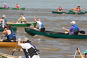 Canoe & Kayak, 32nd Annual Race by Outdoors, Inc. People race canoes and kayaks where the wolf river meets the Mississippi and finish along the banks of the Mississippi near Mud Island. The race is approximately 3 miles.