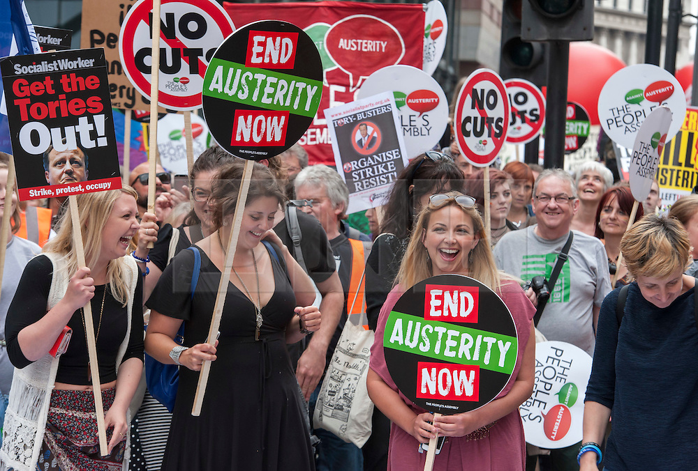 © Licensed to London News Pictures. 20/06/2015. London, UK.  CHARLOTTE CHURCH at The March against Austerity, organised by the People's Assembly, against Government cuts to public spending and public services.  Photo credit : Simon Chapman/LNP