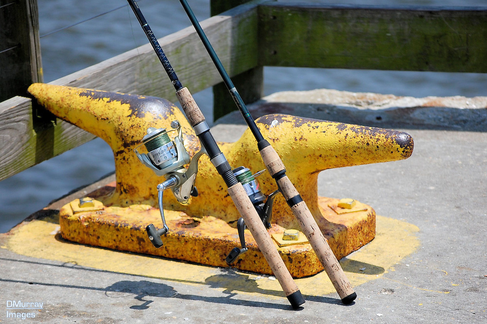 Fishing Poles at the Ready,Southport, North Carolina