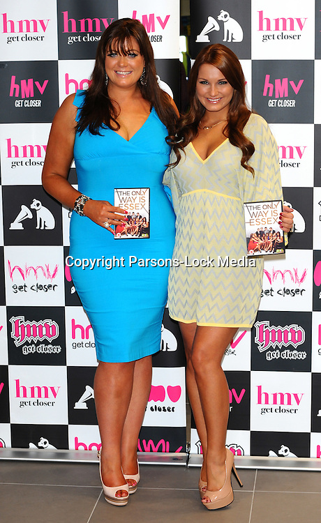 """Gemma Collins & Sam Faiers signing copies of the new """"The Only Way is essex"""" DVD at HMV Westfield, Stratford, East London, Thursday September 29, 2011. Photo By Parsons-lock"""