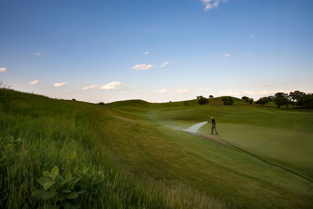 The Erin Hills Golf Course, a rolling and rugged course in Erin, Wisconsin, is home to the 2017 US Open. Please send licensing requests to legal@toddbigelowphotography.com Please send licensing requests to legal@toddbigelowphotography.com
