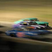 Scenes from stock car racing at Cajon Speedway, El Cajon, CA. Race course no longer exists.