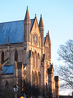 The principal 13th century Early English Transept at Beverley Minster with stylistic Rose Window and Lancet windows