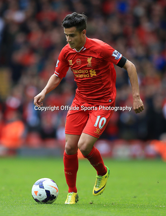 13th April 2014 - Barclays Premier League - Liverpool v Manchester City - Philippe Coutinho of Liverpool - Photo: Simon Stacpoole / Offside.