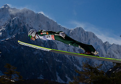 Jurij Tepes of Slovenia competes during Flying Hill Individual at 4th day of FIS Ski Jumping World Cup Finals Planica 2011, on March 20, 2011, Planica, Slovenia. (Photo by Vid Ponikvar / Sportida)