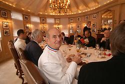 Collonges au Mont d'Or (69) : Paul Bocuse a table dans son restaurant High cuisine chef Paul Bose died at 91 it was announced on Saturday. Photo by Soudan/ANDBZ/ABACAPRESS.COM