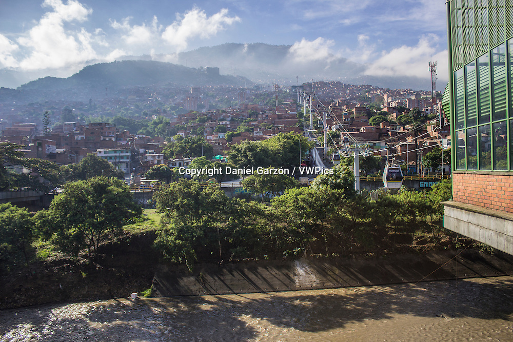 The service of metrocable in Medellin
