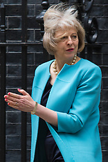 2015-06-09 UK Cabinet Ministers depart Downing Street after weekly meeting.