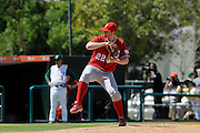 March 8, 2009: Alex Sogard of the North Carolina State Wolfpack in action during the NCAA baseball game between the Miami Hurricanes and the North Carolina State Wolfpack. The 'Canes defeated the Wolfpack 9-7.