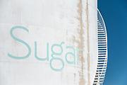 Western Sugar sign on tank.