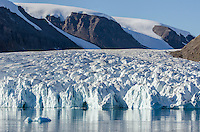 Tidewater glacier in South Cape Fiord on Ellesmere Island in Nunavut, Canada.