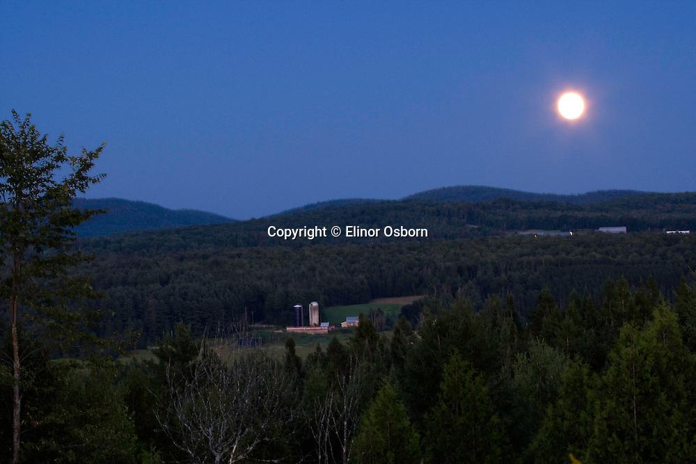 moon over farm