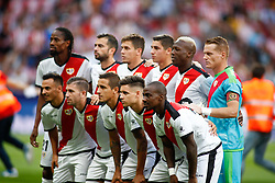 August 25, 2018 - Players of Rayo Vallecano during the spanish league, La Liga, football match between Atletico de Madrid and Rayo Vallecano on August 25, 2018 at Wanda Metropolitano stadium in Madrid, Spain. (Credit Image: © AFP7 via ZUMA Wire)
