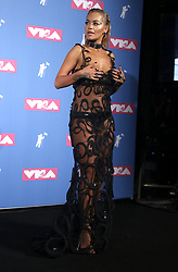 August 20, 2018 - New York City, New York, U.S. - Singer RITA ORA  poses for photos in the press room for the 2018 MTV 'VMAS' held at Radio City Music Hall. (Credit Image: © Nancy Kaszerman via ZUMA Wire)