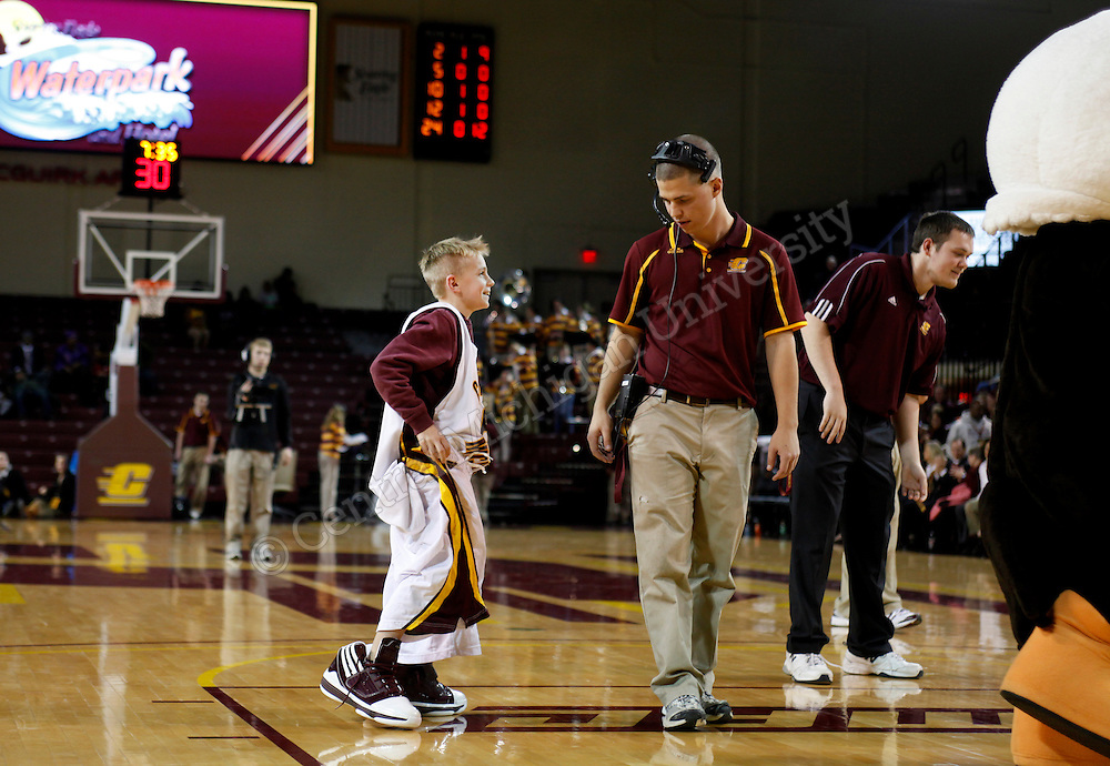 Marcy Weston honored at halftime of the CMU women's basketball game vs Dayton on Thursday, Dec. 5, 2013 at McGurik Arena. She was named the 2012 Naismith Women's College Officials of the Year award.