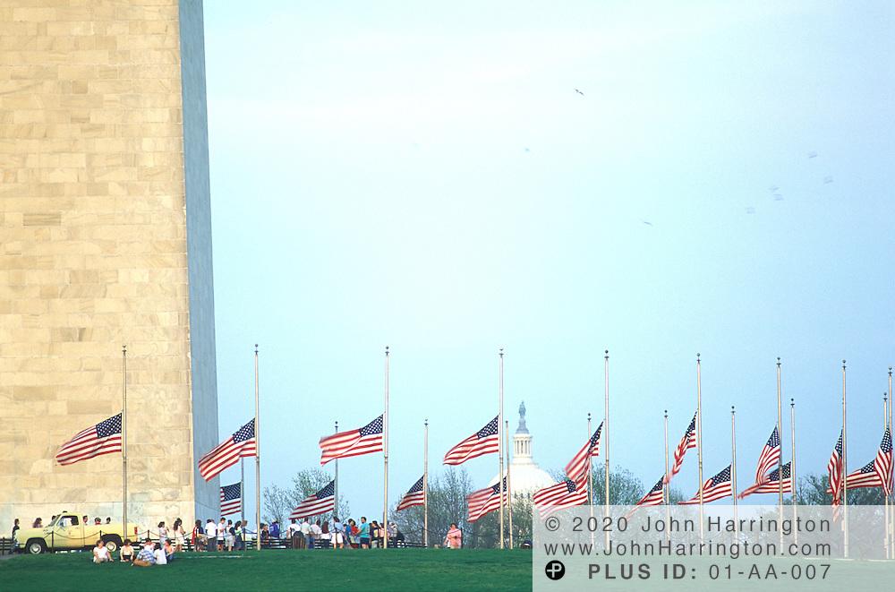 Washington DC 1992 - US Capitol viewed from the Washington Monument.