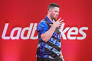 Luke Humphries during the Ladrokes UK Open 2019 at Butlins Minehead, Minehead, United Kingdom on 1 March 2019.