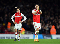 Football - 2019 / 2020 Premier League - Arsenal vs. Brighton & Hove Albion<br /> <br /> Arsenal's Granit Xhaka salutes the fans after their 2-1 defeat, at The Emirates.<br /> <br /> COLORSPORT/ASHLEY WESTERN