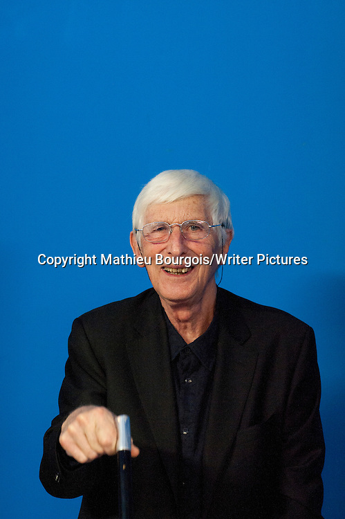 Tomi Ungerer, French writer and illustrator. Photographed in Lyon, France. Photographed 22nd May 2012<br /> <br /> Picture by Mathieu Bourgois/Writer Pictures<br /> <br /> NO FRANCE