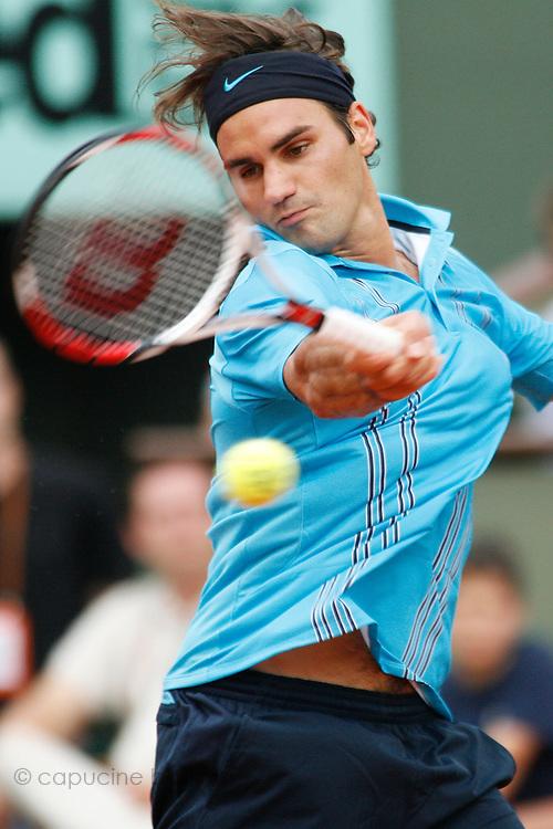 Roland Garros. Paris, France. June 5th 2007..1/4 Finals..Roger FEDERER against Tommy ROBREDO.