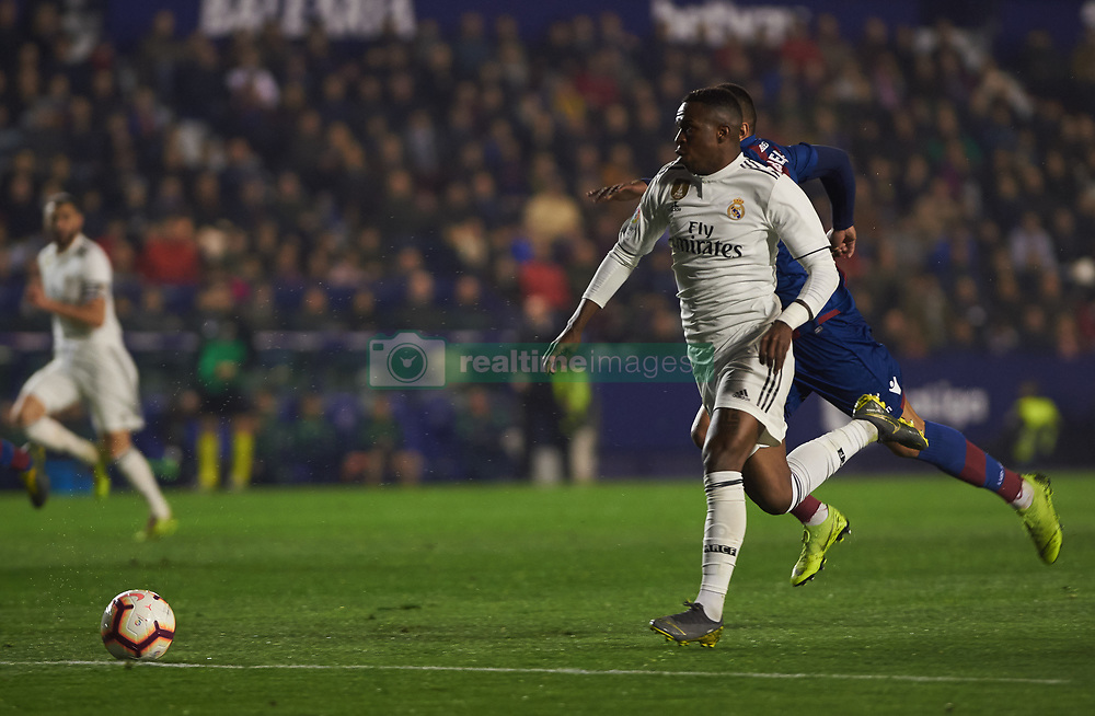 February 24, 2019 - Valencia, Valencia, Spain - Vinicius Junior of Real Madrid during the La Liga match between Levante and Real Madrid at Estadio Ciutat de Valencia on February 24, 2019 in Valencia, Spain. (Credit Image: © AFP7 via ZUMA Wire)