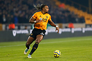 Adama Troare in action during the Premier League match between Wolverhampton Wanderers and West Ham United at Molineux, Wolverhampton, England on 4 December 2019.