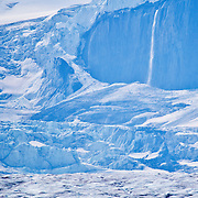 Columbia Icefield Glacier in the Canadian Rocky Mountains.