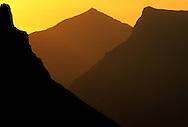 Logan Pass at sunrise. Glacier National Park, Montana.