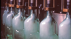 Beverage Being Filled into Bottles