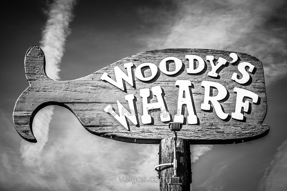 Woody's Wharf sign picture in Newport Beach. Woody's Wharf is a popular Orange County seafood restaurant located on Balboa Peninsula at 2318 Newport Blvd. Newport Beach, CA 92663