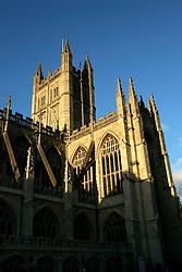 UK ENGLAND BATH 1OCT05 - Bath Abbey during sunset light seen from the Abbey Church yard...jre/Photo by Jiri Rezac..© Jiri Rezac 2005.Contact: +44 (0) 7050 110 417.Mobile: +44 (0) 7801 337 683.Office: +44 (0) 20 8968 9635..Email: jiri@jirirezac.com.Web: www.jirirezac.com..© All images Jiri Rezac 2005 - All rights reserved.