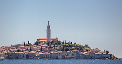 THEMENBILD - URLAUB IN KROATIEN, Stadtansicht mit der Kirche der heiligen Euphemia aufgenommen am 03.07.2014 in Rovinj, Kroatien // Cityscape with the St. Euphemias Basilica in Rovinj, Croatia on 2014/07/03. EXPA Pictures © 2014, PhotoCredit: EXPA/ JFK
