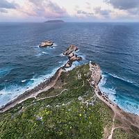 Vue aérienne de la Pointe des Châteaux en Guadeloupe