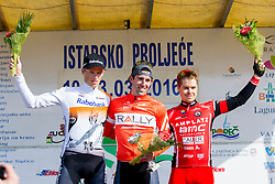 Third placed, Jan Tratnik of Amplatz - BMC during flower ceremony after prologue (2km) of 13th Istrian Spring Trophy cycling race on March 10, 2016 in Umag, Croatia. Photo by Urban Urbanc / Sportida