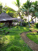 Bures (cottages) at the Matava Resort, Kadavu, Fiji.