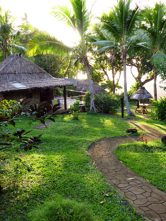 Bures (cottages) at the Matava Resort, Kadavu, Fiji.