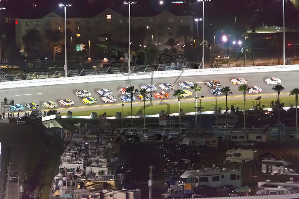 DAYTONA BEACH, FL - JUL 07, 2012:  The NASCAR Sprint Cup Series take to the track for the Coke Zero 400 at the Daytona International Speedway in Daytona Beach, FL.