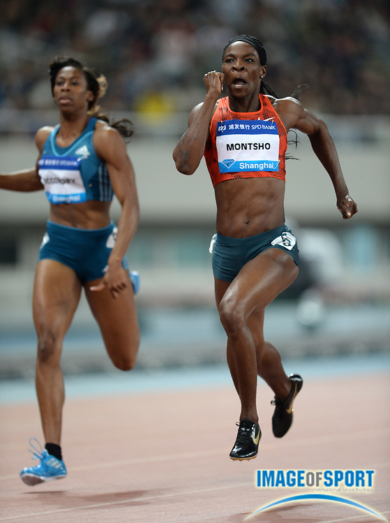 May 18, 2014; Shanghai, CHINA; Amantle Montsho (BOT) places second in the womens 400m in 50.37 in the 2014 Shanghai Golden Grand Prix at Shanghai Stadium. Photo by Jiro Mochizuki