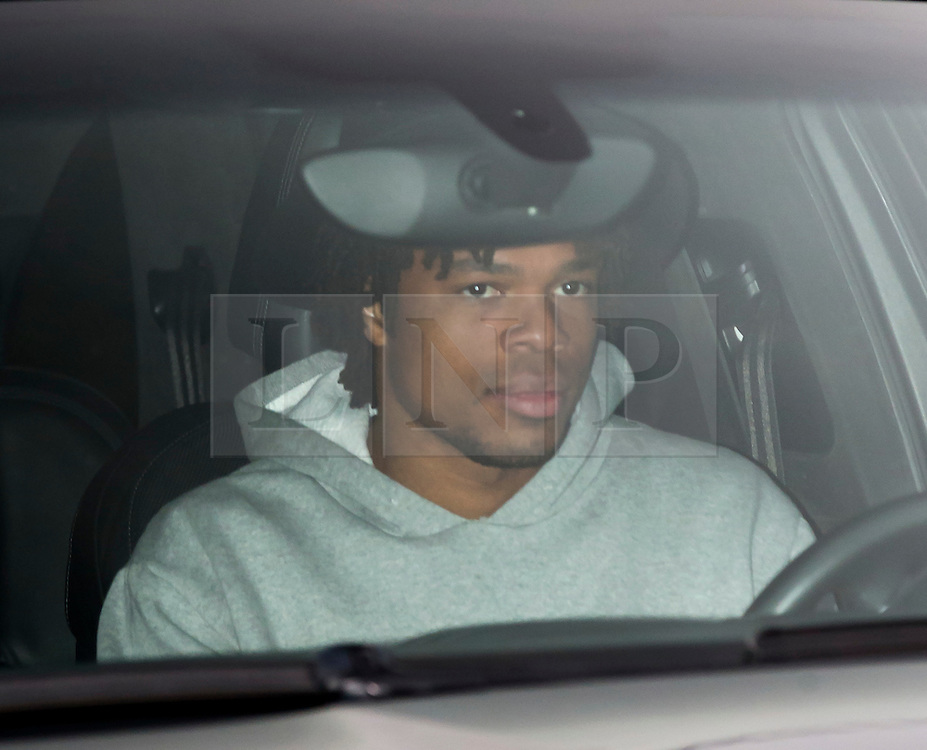 © Licensed to London News Pictures. 17/12/2015. London, UK. Striker Loic Remmy  leaves the Chelsea FC training ground after Jose Mourinho was sacked as manager of Chelsea Football Club today (December 17, 2015) Photo credit: Peter Macdiarmid/LNP