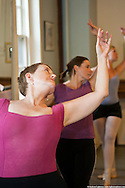 Kitty Felde, a student at St. Mark's Dance Studio, lead her class.