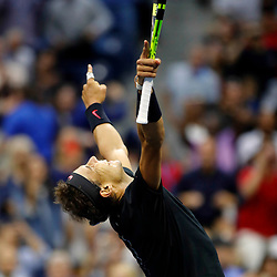 Rafael Nadal of Spain celebrates winning the Men's Final on day 14 of the Us Open 2017 at USTA Billie Jean King National Tennis Center on September 10, 2017 in New York City. (Photo by Marek Janikowski/Icon Sport)