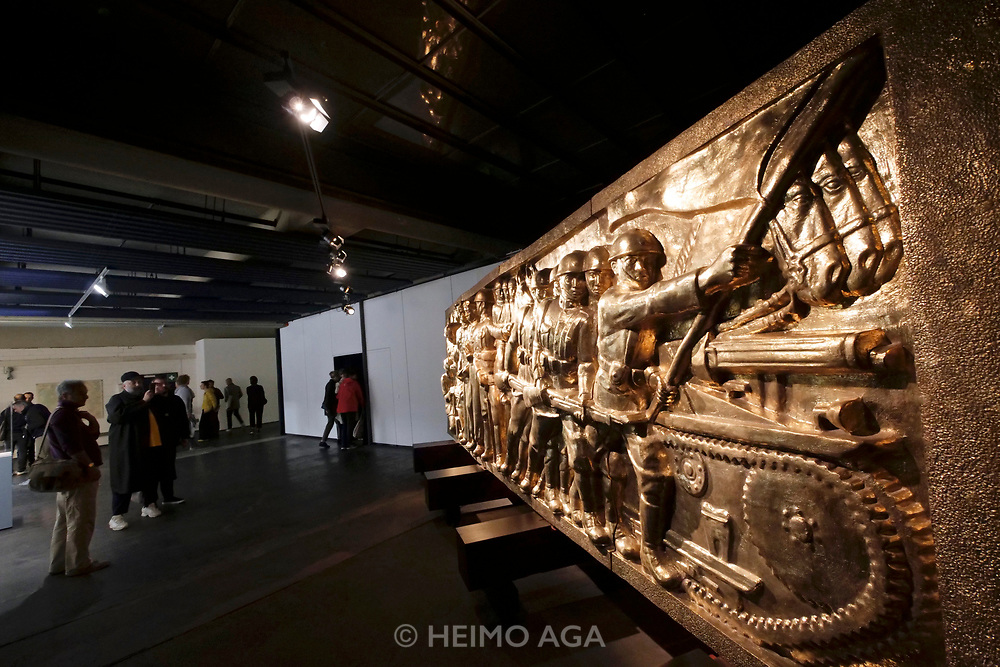 Kassel, Germany. Opening days of documenta14.<br /> Neue Neue Galerie.<br /> Arin Rungjang: 246247596248914102516... And then there were none (Democracy Monument), 2017