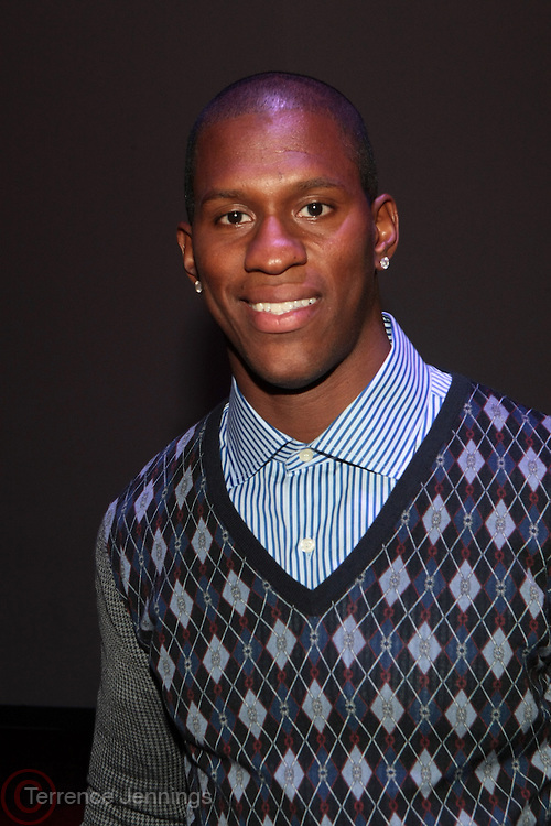 6 September 2013- New York, NY: Professional Football Player Kenneth Hamlin attends Harlem Fashion Row 2013 Spring Presentation held at Jazz at Lincoln Center on September 6, 2013 in New York City. ©Terrence Jennings