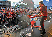 UNITED KINGDOM-LONDON.  Scouting for Girls play Skyfest 2010. 16/07/2010. STEPHEN SIMPSON...