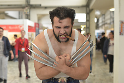 April 28, 2017 - Napoli, Italy - 'Wolverine' seen at 2017 International Exhibition of Comics and Games. Naples celebrates the International Exhibition of Comics and Games, it is an annual fair dedicated to comics and animation. (Credit Image: © Paola Visone/Pacific Press via ZUMA Wire)